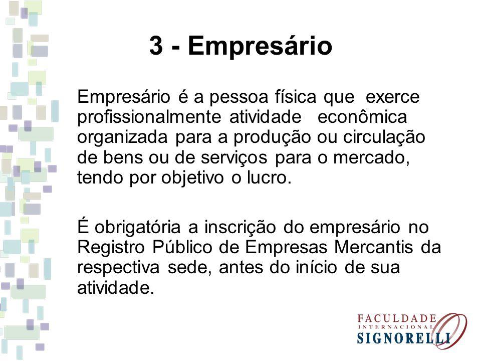 3 - Empresário