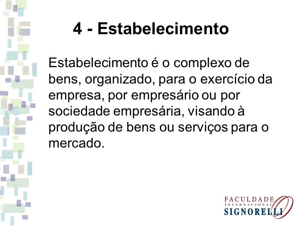 4 - Estabelecimento