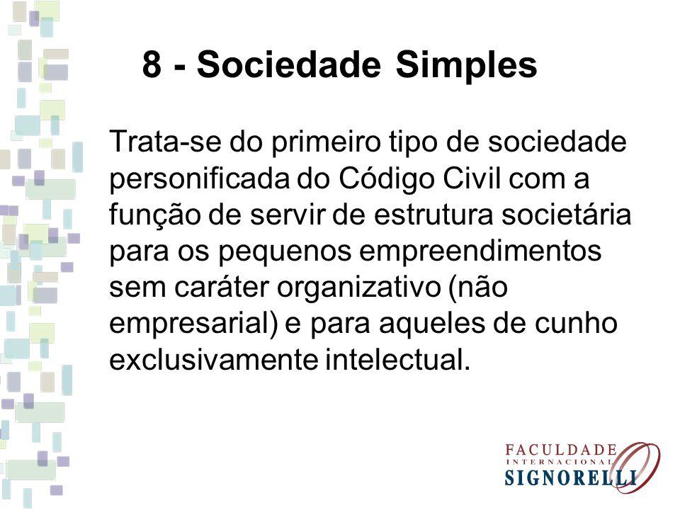 8 - Sociedade Simples