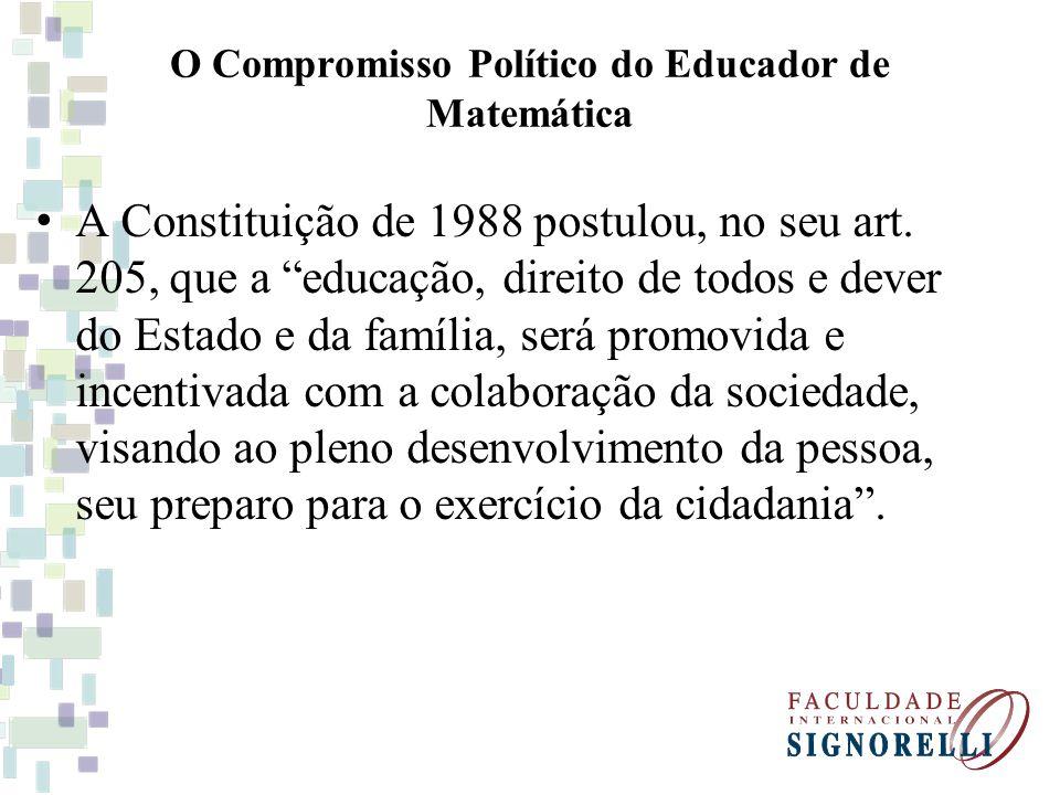 O Compromisso Político do Educador de Matemática