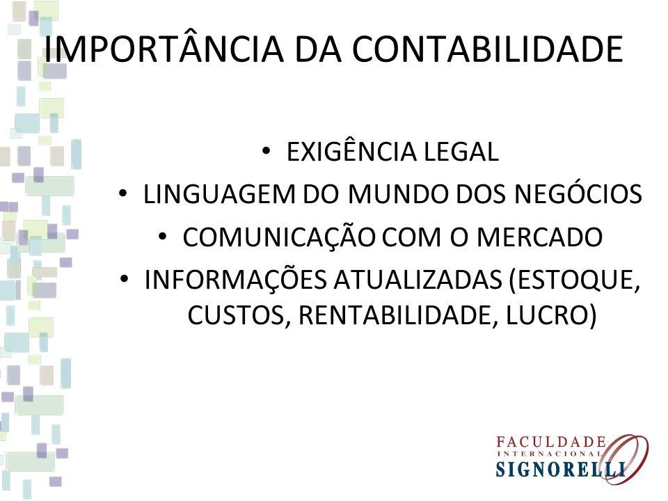 IMPORTÂNCIA DA CONTABILIDADE