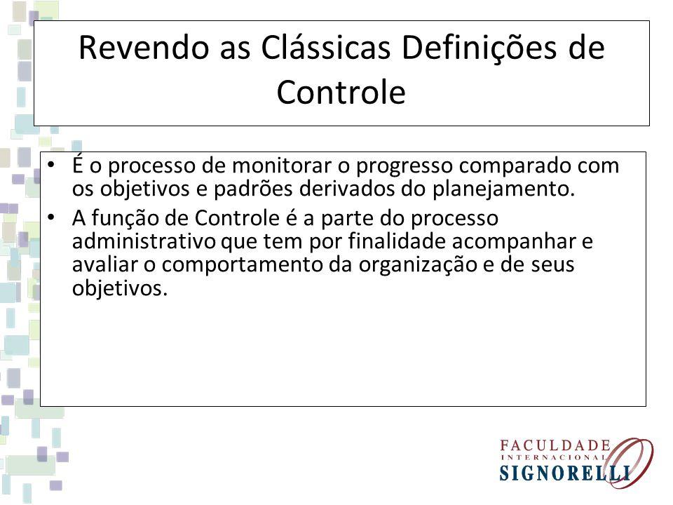 Revendo as Clássicas Definições de Controle