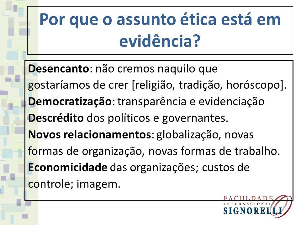 Por que o assunto ética está em evidência