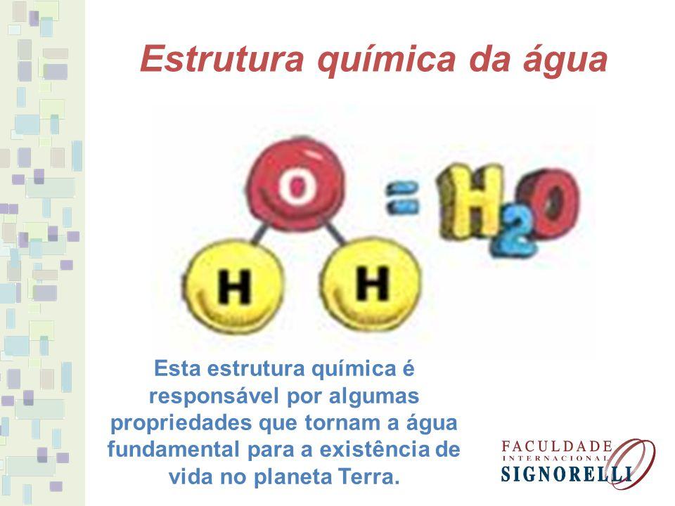 Estrutura química da água