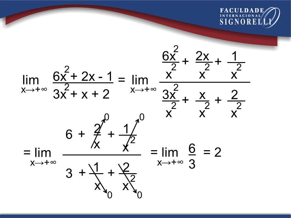 lim + 6x x 2x 1 3x lim = 6x + 2x - 1 3x + x + 2 = lim + 6 2 x 1 3 6 3