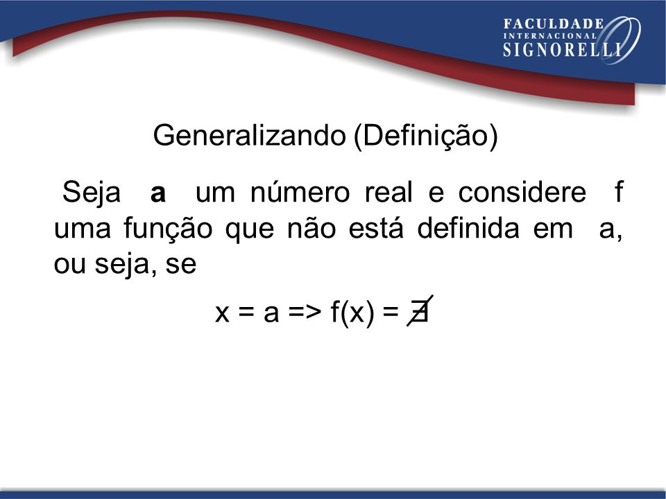 Generalizando (Definição)