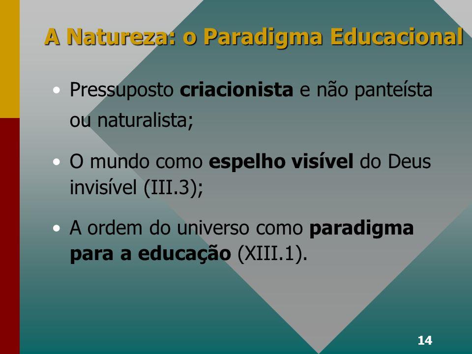 A Natureza: o Paradigma Educacional