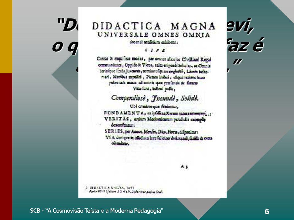 O Lugar da Fé na Didática Magna de João Comênio