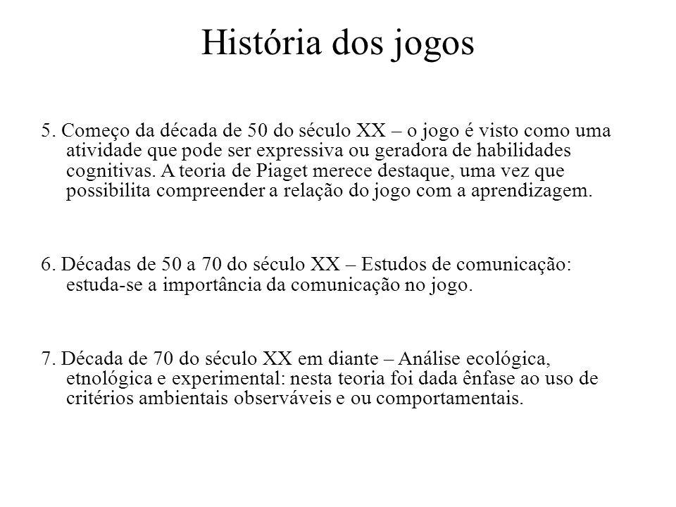 História dos jogos