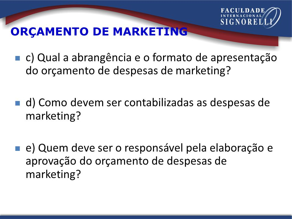 ORÇAMENTO DE MARKETING