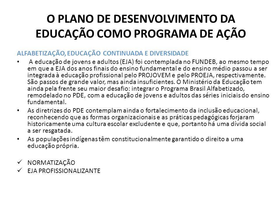 O PLANO DE DESENVOLVIMENTO DA EDUCAÇÃO COMO PROGRAMA DE AÇÃO