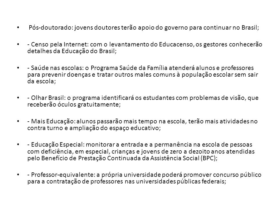 Pós-doutorado: jovens doutores terão apoio do governo para continuar no Brasil;