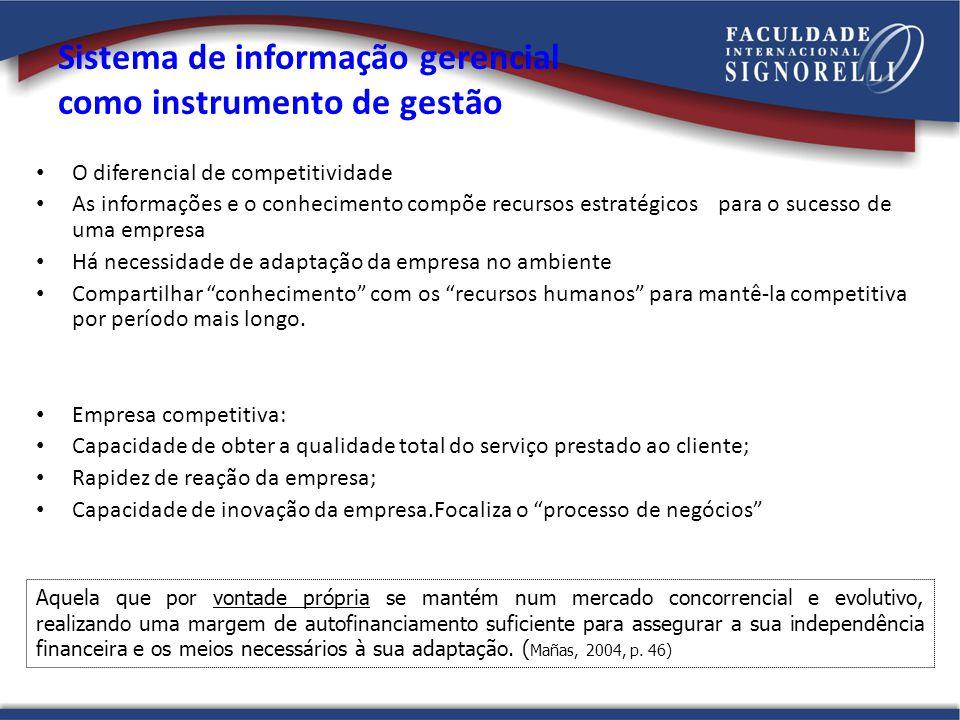 Sistema de informação gerencial como instrumento de gestão