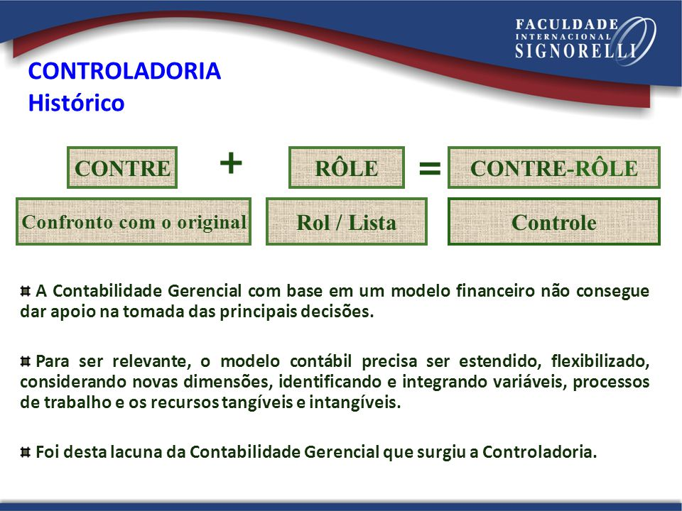 CONTROLADORIA Histórico