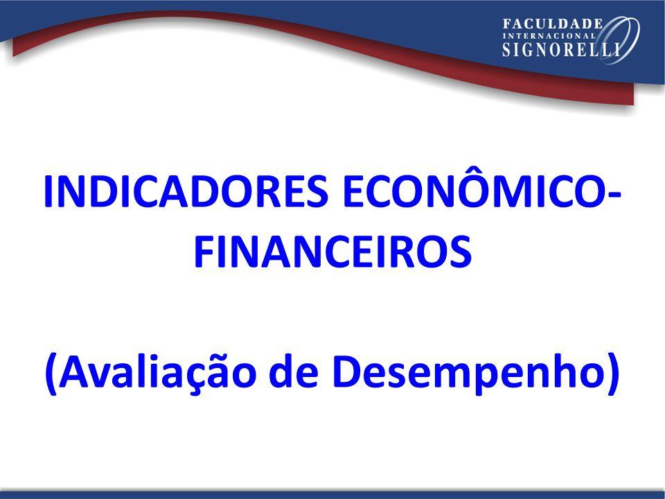 INDICADORES ECONÔMICO-FINANCEIROS (Avaliação de Desempenho)