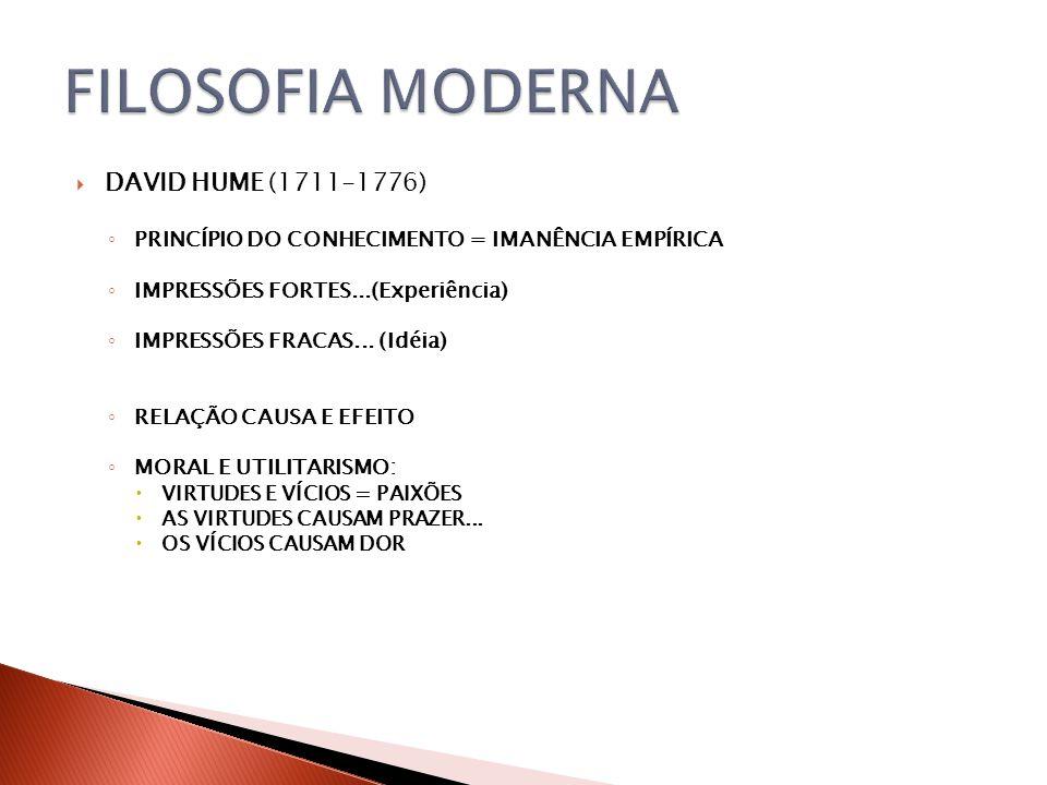 FILOSOFIA MODERNA DAVID HUME (1711-1776)