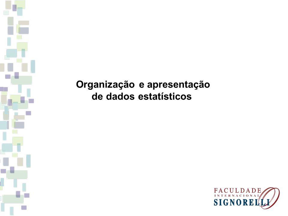 Organização e apresentação