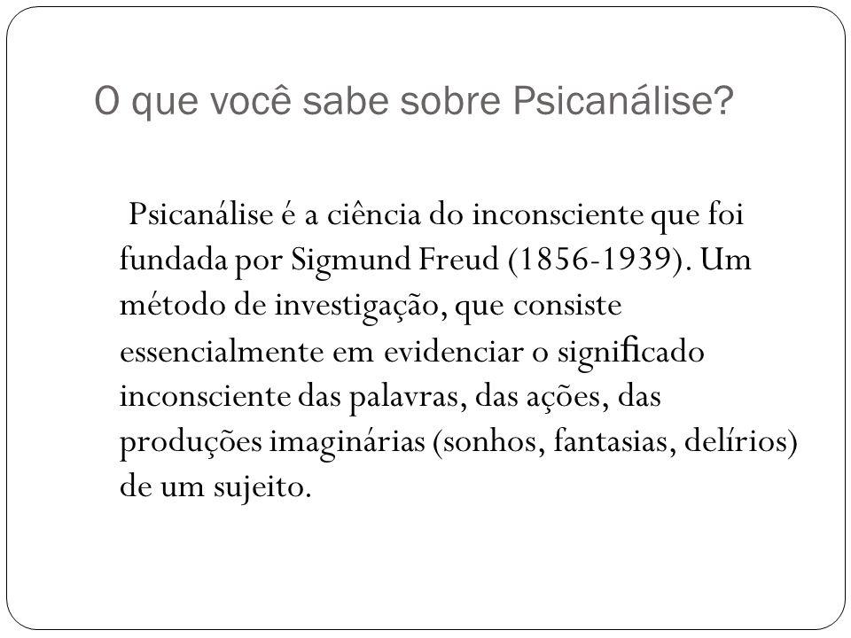 O que você sabe sobre Psicanálise