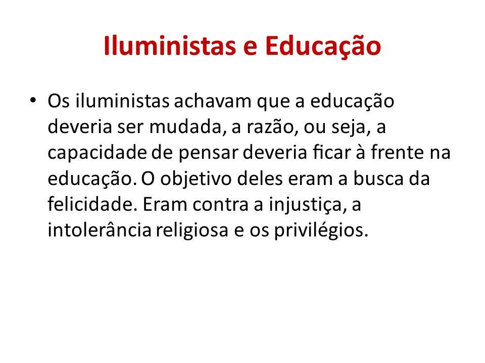 Iluministas e Educação