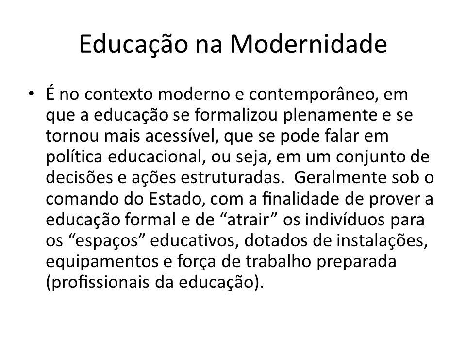 Educação na Modernidade