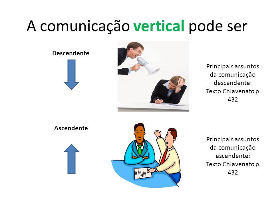 A comunicação vertical pode ser