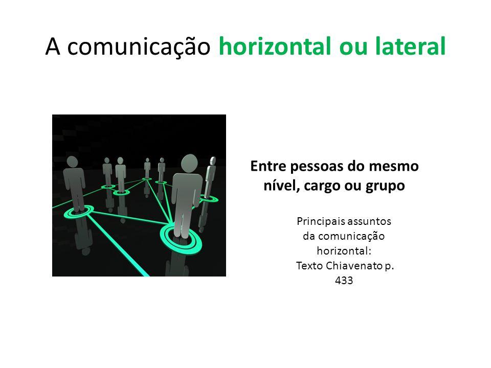 A comunicação horizontal ou lateral