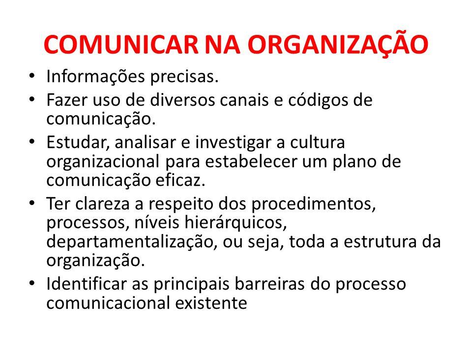 COMUNICAR NA ORGANIZAÇÃO