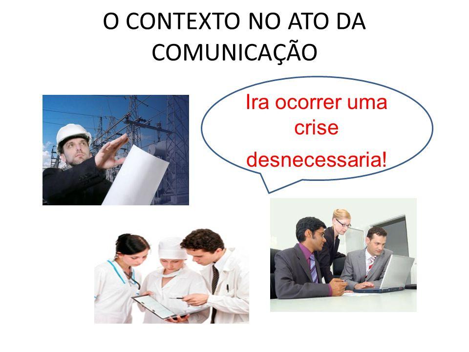 O CONTEXTO NO ATO DA COMUNICAÇÃO