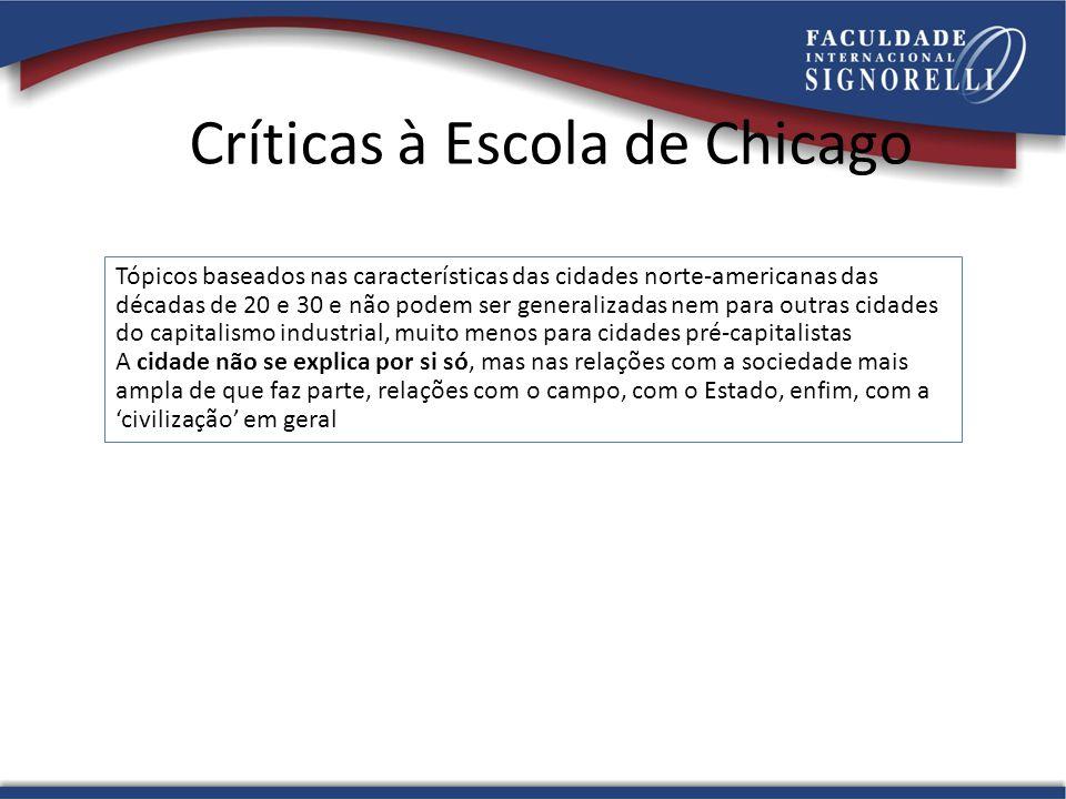 Críticas à Escola de Chicago