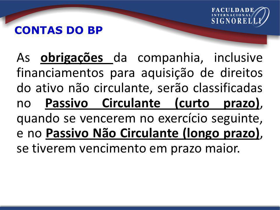 CONTAS DO BP