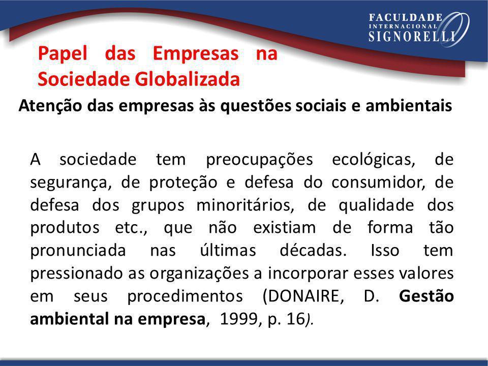 Papel das Empresas na Sociedade Globalizada