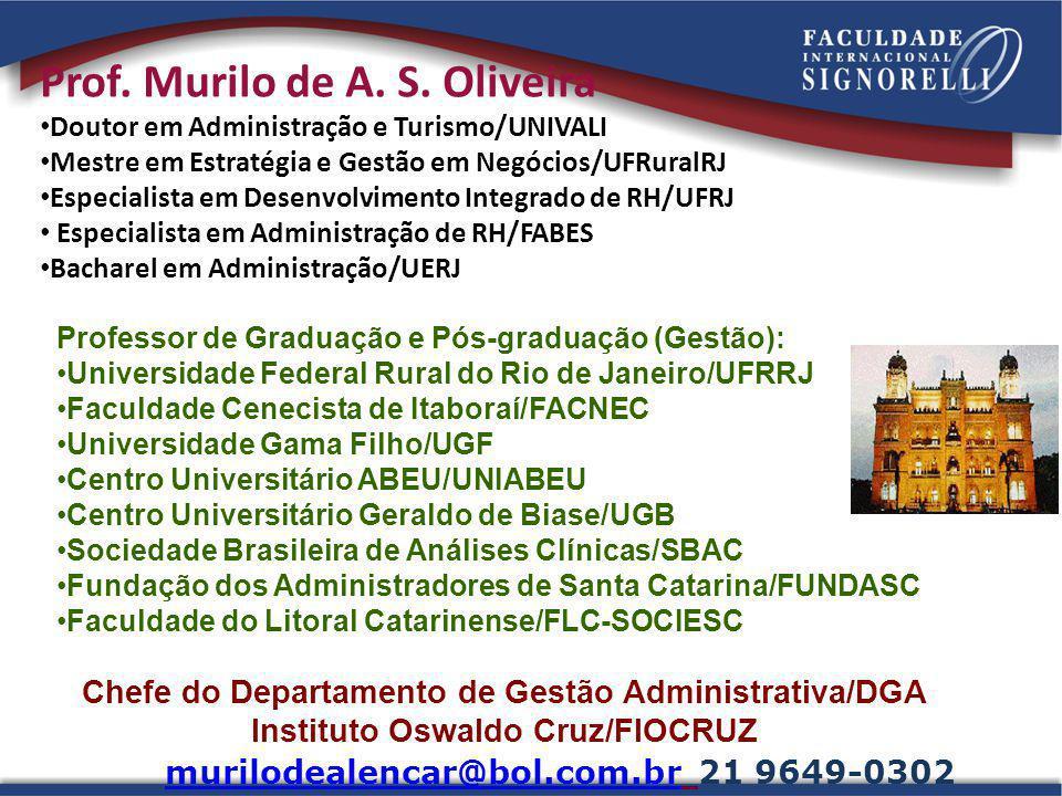 Prof. Murilo de A. S. Oliveira