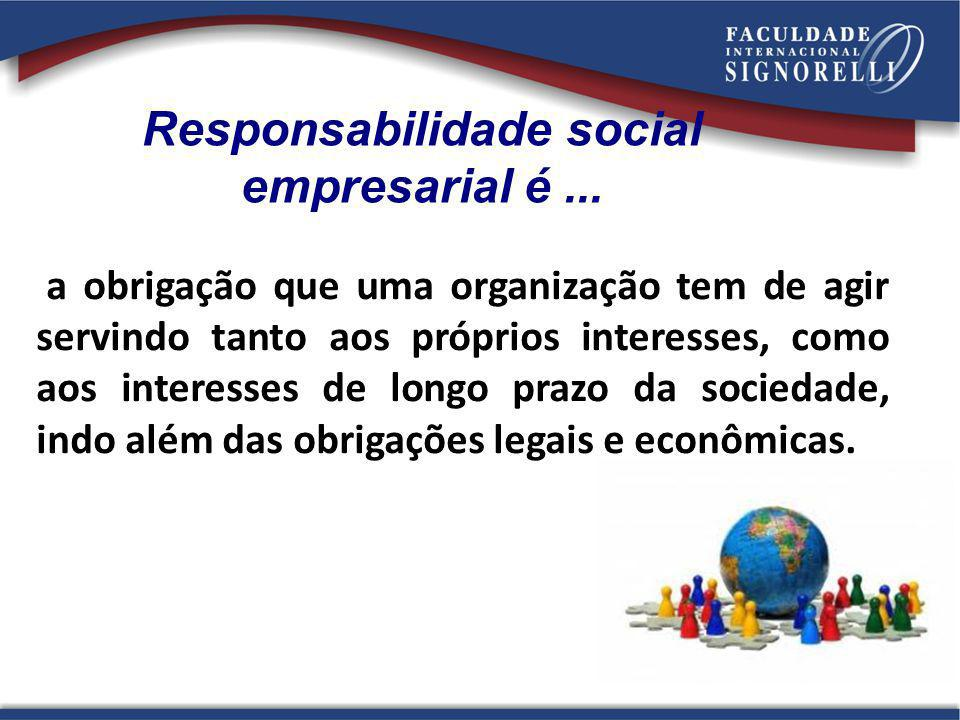 Responsabilidade social empresarial é ...