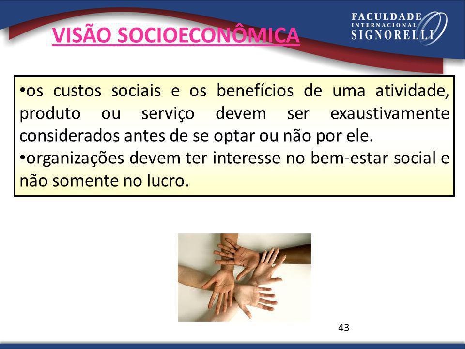 VISÃO SOCIOECONÔMICA