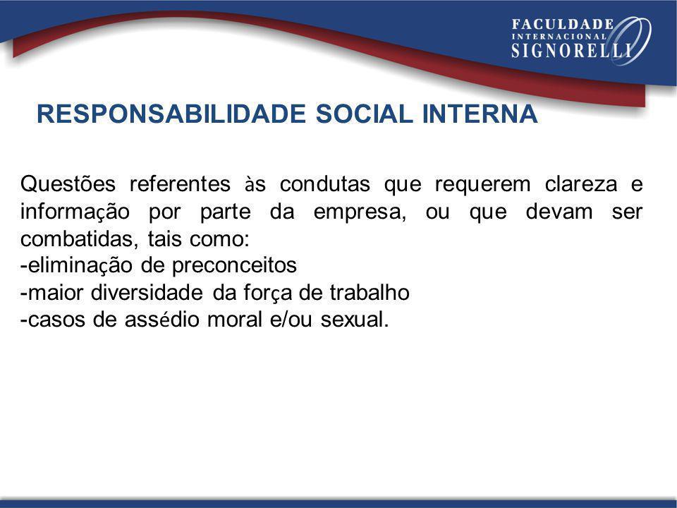 RESPONSABILIDADE SOCIAL INTERNA