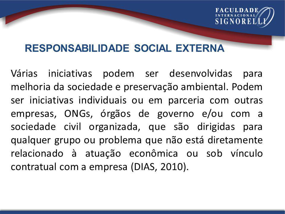 RESPONSABILIDADE SOCIAL EXTERNA
