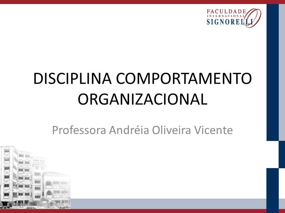 DISCIPLINA COMPORTAMENTO ORGANIZACIONAL