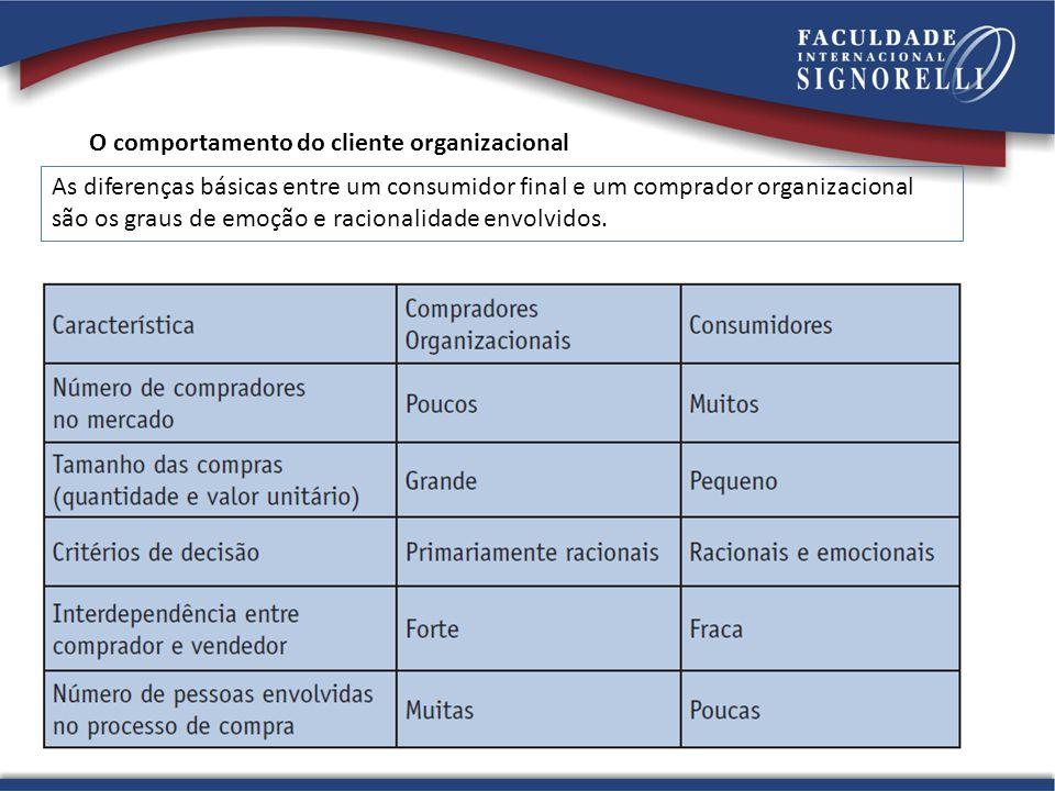 O comportamento do cliente organizacional