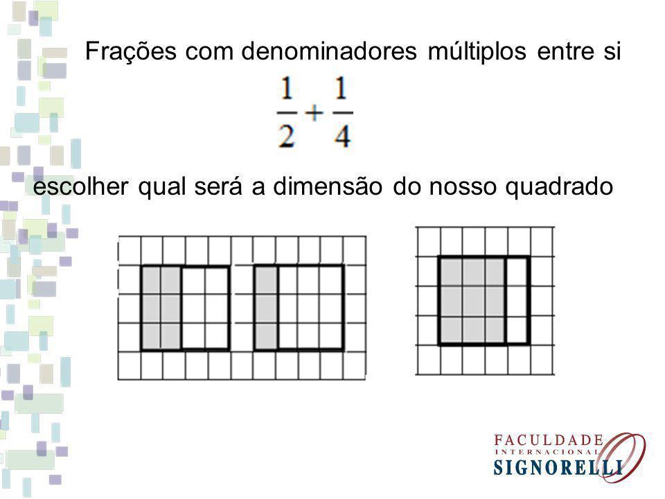 Frações com denominadores múltiplos entre si