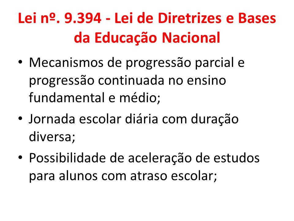 Lei nº. 9.394 - Lei de Diretrizes e Bases da Educação Nacional