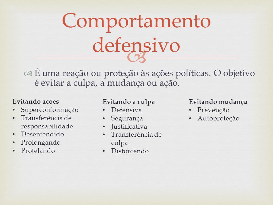 Comportamento defensivo