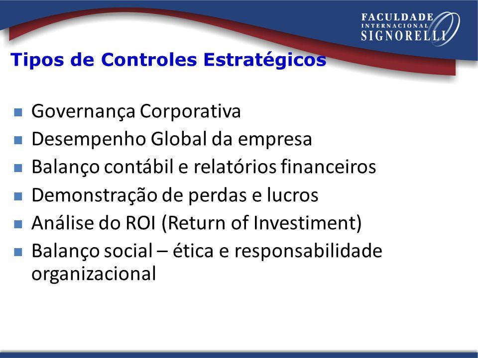 Tipos de Controles Estratégicos