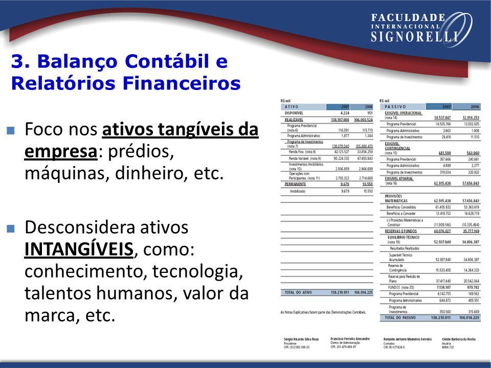 3. Balanço Contábil e Relatórios Financeiros