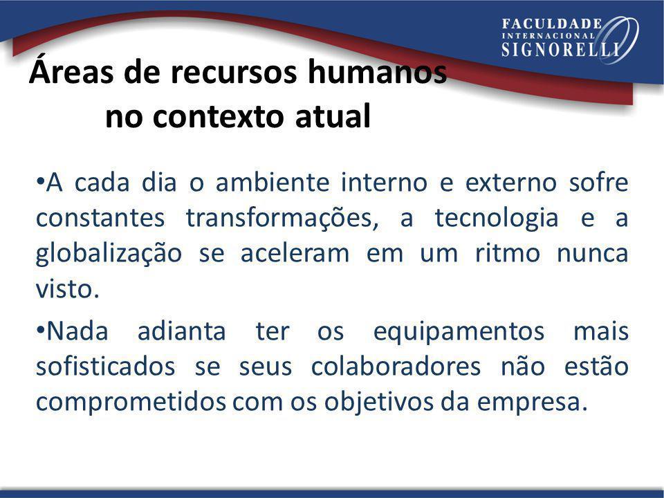 Áreas de recursos humanos no contexto atual