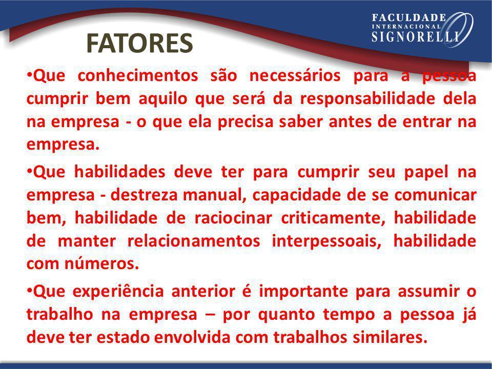 FATORES