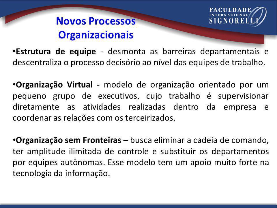 Novos Processos Organizacionais