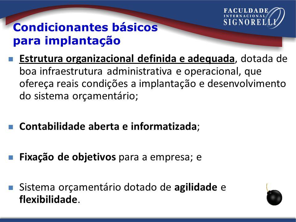 Condicionantes básicos para implantação