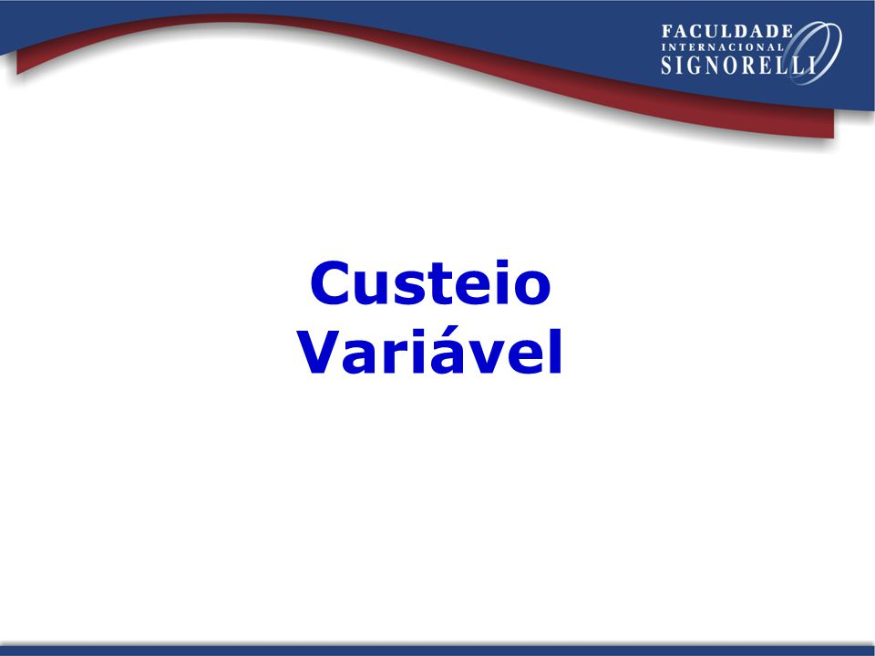 Custeio Variável