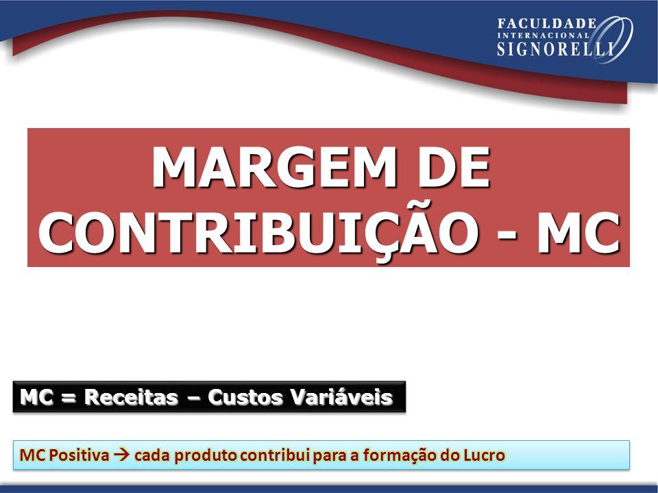 MARGEM DE CONTRIBUIÇÃO - MC