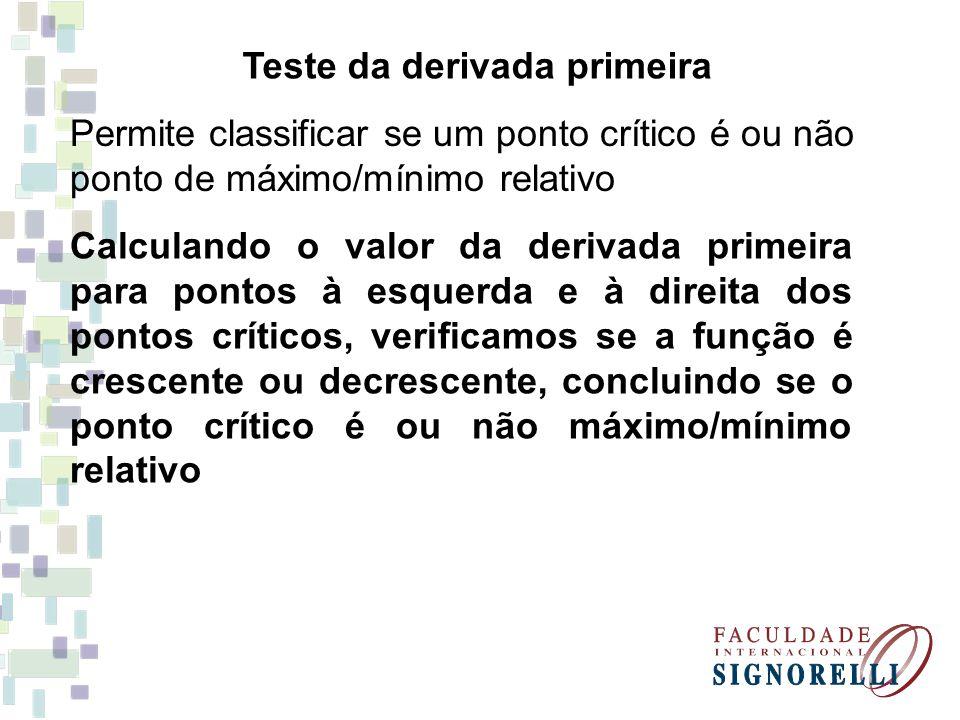 Teste da derivada primeira
